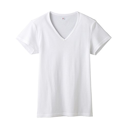 [グンゼ] インナーシャツ YG 綿100% Vネック半袖 COTTON COOL YV0315N メンズ ホワイト 日本 M (日本サイズM相当)