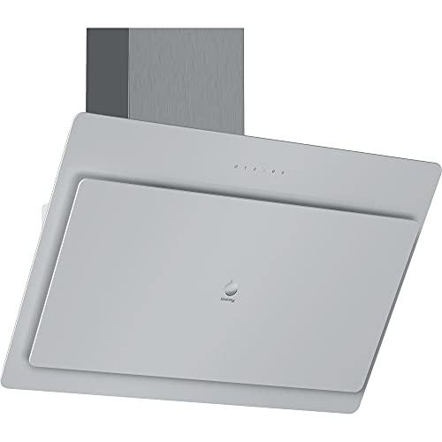 Balay 3BC587GB - Campana extractora de pared, Decorativa, Inclinada, 80 cm, Cristal Blanco