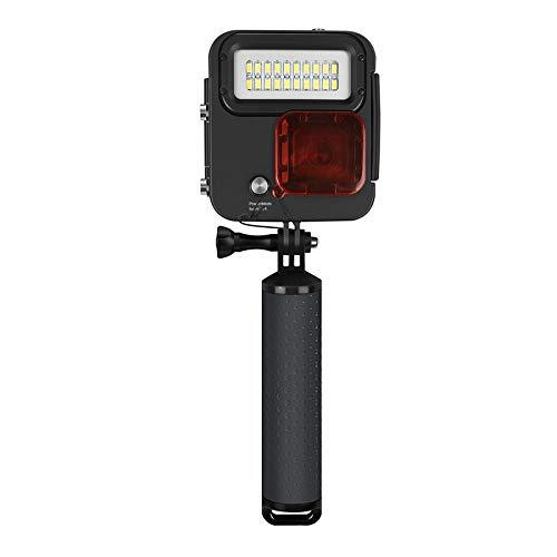 Cámara de buceo flotante de mano para selfies, cámara impermeable, luz de vídeo LED de buceo, juego de filtro de buceo para GoPro Hero 3+/4/5/6/7, luz de relleno de buceo integrada resistente al agua