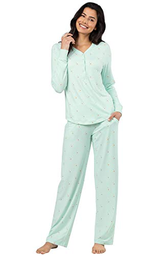 Addison Meadow Pajama Set for Women - Cute Pajamas for Women, Aqua, 3X, 28