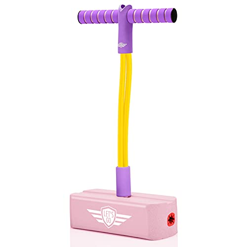 Gifts for 3-12 Year Old Boys Girls, Foam Pogo Jumper for Kids Outdoor Toys for Kids Ages 4-8 Pogo Stick Girls Toys Cool Toys for Autistic Kids Toys Fun Toys Presents for Girls Autism Toys, Pink