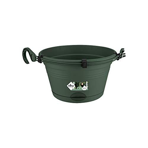 Elho Green Basics Hängeampel 28 - Blumentopf - Laubgrün - Draußen & Balkon - Ø 27.8 x H 15.9 cm