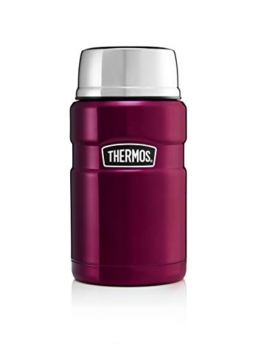 THERMOS Boîte Alimentaire Isotherme, Acier Inoxydable, Framboise, 710 ML