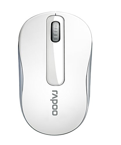 Rapoo M10+ kabellose Maus, 2,4 GHz Wireless via Nano-USB-Empfänger, 1000 DPI optischer Sensor, 12 Monate Batterielaufzeit, weiß