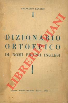 Dizionario ortoepico di nomi propri inglesi.