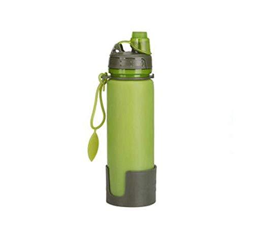 Tasse pliante en silicone créative portative, tasse à café pliante , Eco-Friendly réutilisable - Tasse de voyage pliante convient à une poche ou à un sac - Couvercle étanche - - Cadeau pour les amoure