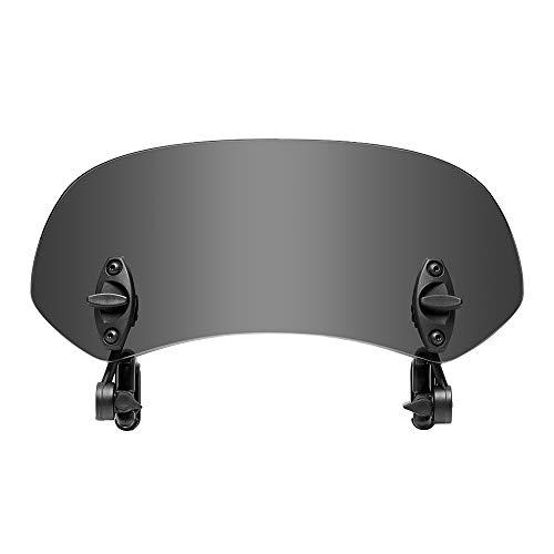 Parabrisas Moto, Extensor de Parabrisas de Motocicleta, Deflector de Viento de Parabrisas Repuestos para Motos Universal Ajustable, 12 * 29.5cm, 1 pc