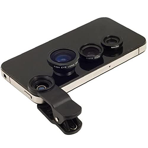 TOPofly Lente de la cámara del teléfono, magnético Universal Clip Lente de la cámara Ojo de pez, Lente Ancha del ángulo de la cámara para Smartphone Inicio Herramienta de Belleza (Negro)