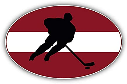 KW Vinyl Latvia Flag Hockey Label Truck Car Window Bumper Sticker Decal 5