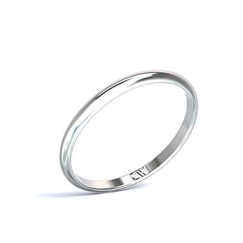 Alianza de Boda CRISTINA WISH en oro blanco, modelo Rhea 2-1,2 mm. Alianza para hombre y mujer. Anillo en Oro Blanco (20)
