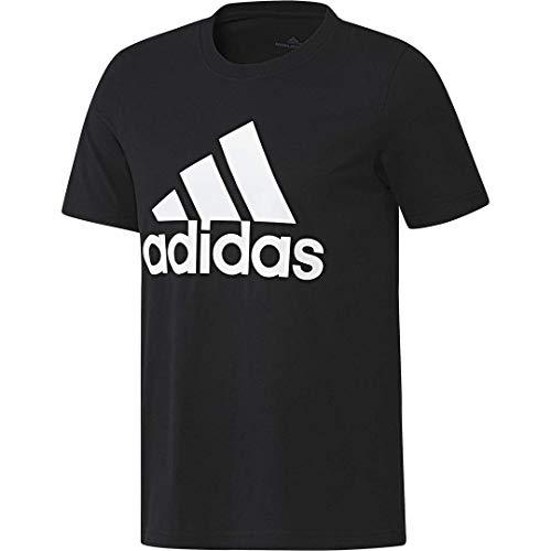 adidas mens Basic Badge of Sport Tee Black/White Medium