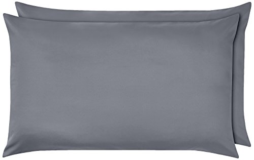 Amazon Basics Pillowcase, Gris oscuro, 50 x 80 cm