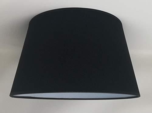 40 cm Schwarz Stoff Empire Handgemachte Lampenschirm Für Tischlampe, Stehlampe