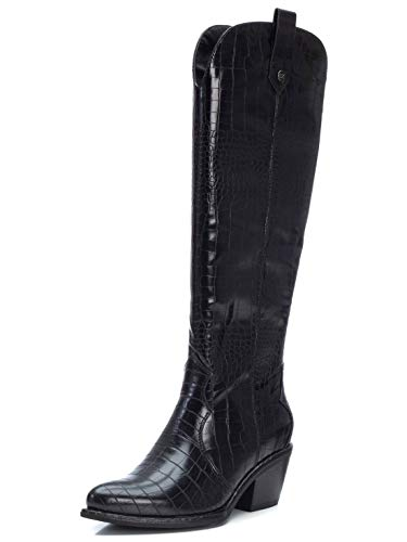 XTI - Bota Campera para Mujer - Cierre con Cremallera - - Color Negro - Talla 39