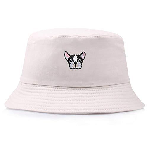 Bucket Hat Chapeau Broderie Unisexe Bonnet Seau Crème Solaire Résistant À La Lumière Voyage Facile À Transporter Bonnet De Pêcheur Doux Eaves Chapeau De Plage Beige