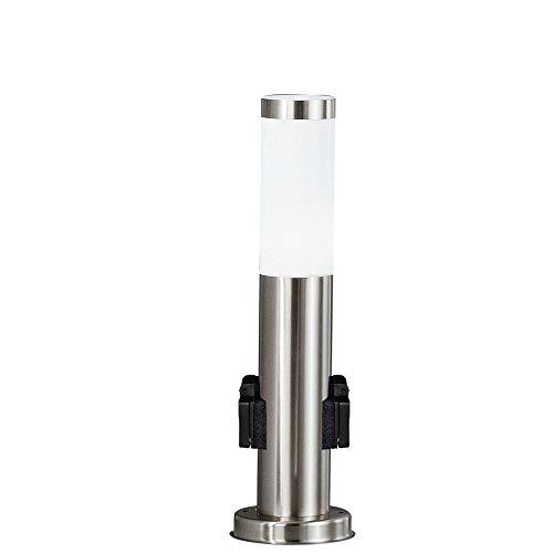 Sockel Leuchte Edelstahl Steckdosen Garten Außen Stand Strahler Wege Steh Lampe Terrassen Beleuchtung