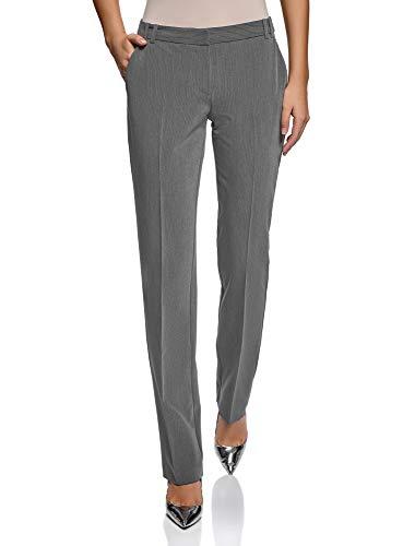 oodji Collection Mujer Pantalones Clásicos con Pinzas