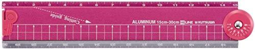クツワ HiLiNE 折り畳みアルミ定規 XS31PK ピンク 【× 4 個 】