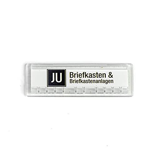JU Namensschild 67 x 22 mm Stanzmaß 61 x 18 mm JU Nummer 21-255