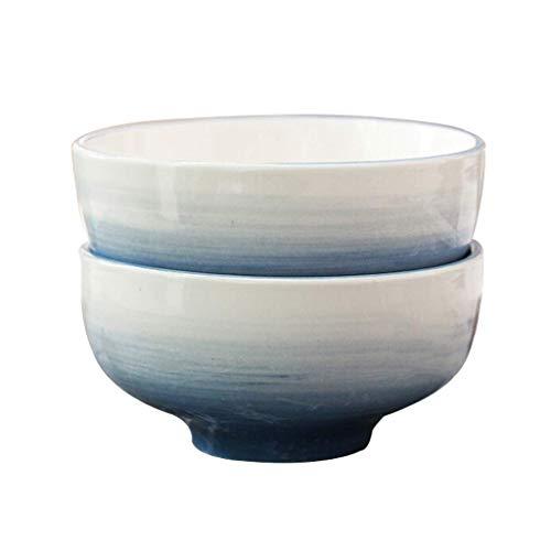 DJY-JY Blue Creative Fashion - Juego de 2 cuencos para sopa de postre (11,4 cm, 6912001000)