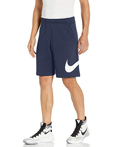 Nike Men's Sportswear Club Short Basketball Graphic, Midnight Navy/White/White, Large