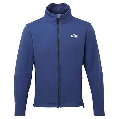Gill Heren Race Softshell jas - Donkerblauw - Warme warmtelagen Lagen Gemakkelijk Stretch Lichtgewicht