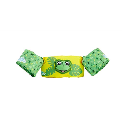 STEARNS Puddle Jumper Kids Deluxe 3D Life Jacket | Premium Life Vest for Children with 3D Character, Lizard, 30-50 Pounds
