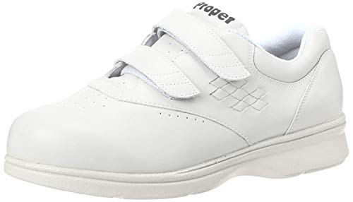 Propet Men's Life Walker Strap Sneaker,White,10 5E