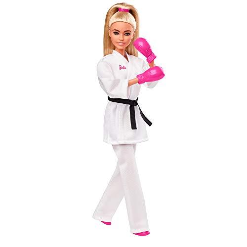 Barbie- Juegos Olímpicos Tokio 2020 muñeca karateka con uniforme y con accesorios (Mattel GJL74) , color/modelo surtido