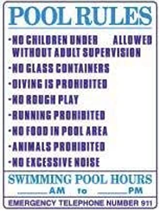Amazon.com: Pool Rules with Swimming Pool Hours Metal Tin Sign Home ...