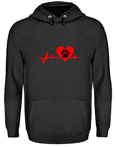 Generieke hartlijnpoot - hond/kat liefde EKG Heartline hart - eenvoudig en grappig design - Unisex capuchontrui hoodie