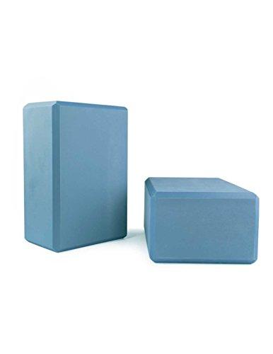 Yogablock, Zweierpack, mittelblau, ca. 22 x 15 x 10 cm dick