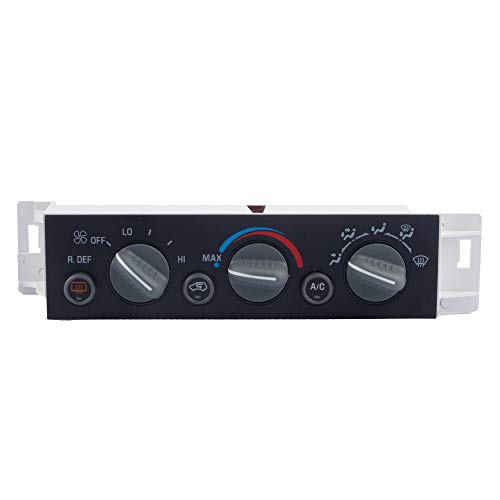 Dasbecan AC Heater Climate Control Panel Module w/Rear Window Defogger Switch Compatible with Chevy Suburban Tahoe GMC Yukon C1500 C2500 C3500 K1500 K2500 K3500 Silverado 1996-2000 Replaces# 16231165
