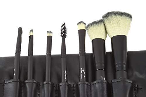 Make-up Pinsel Set 8-teilig Profi Kosmetikpinsel Schminkpinsel mit Tasche (schwarz)