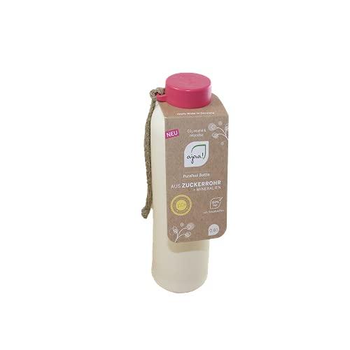 ajaa! Bio Trinkflasche 800ml - Wasserflasche auslaufsicher BPA frei ohne Melamin, aus nachwachsende Rohstoffen (pink)