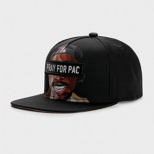 jujubai Sombrero Marca Cap Black One Ventilación Hip Hop Snapback Hat para Hombres Mujeres Adultos Al Aire Libre Casual Gorra De Béisbol para El Sol