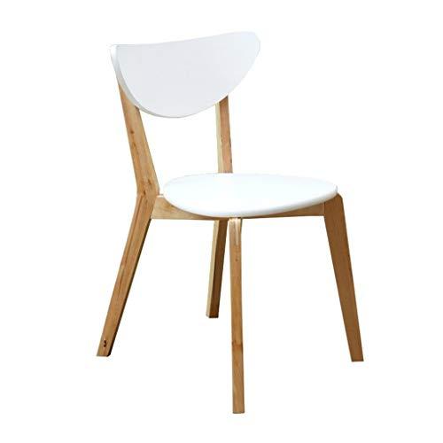 Eetstoel, Massief Houten Eenvoudige Bureaustoel Met Rugleuning Home Leisure Chair Desk Houten Stoel (Color : 1 sheet)