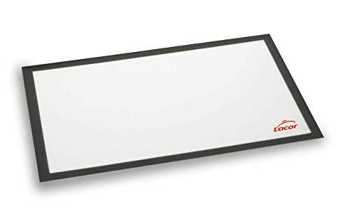 Lacor - 66731 - Tapete Silicona Para Bandeja 60x40 cm- Blanco