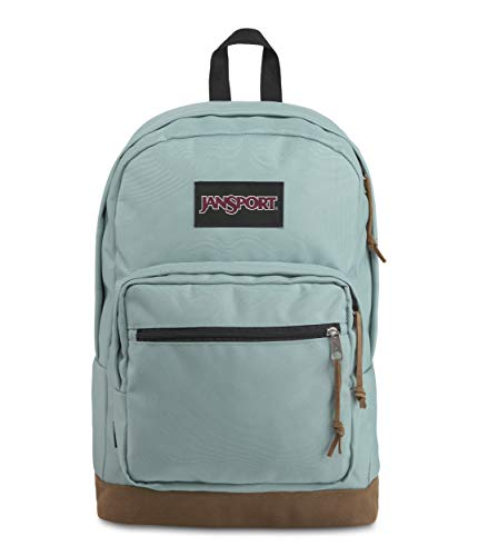 JanSport Right Pack Backpack - School, Travel, Work, or Laptop Bookbag with Leather Bottom, Moon Haze