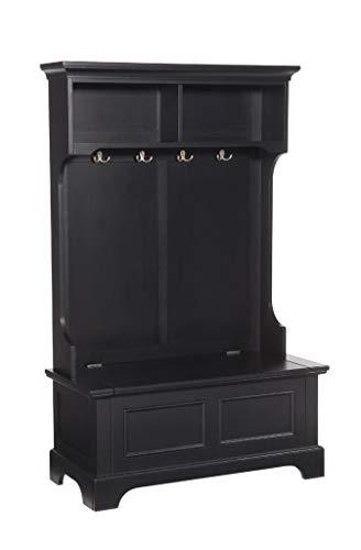 Homestyles Home Styles Bedford Sitzbank mit Stauraum, Schwarz, Asiatische Harthölzer, No Size