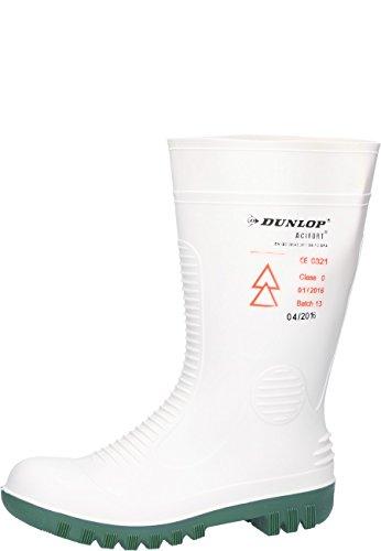 Dunlop Acifort HV, mit zertifiziertem Schutz gegen Stromschläge Din EN345 SB, Gummistiefel in weiß, 44/45
