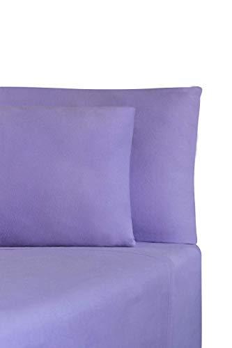 DECORAL Juego de sábanas. Tela Franela Confort, climas fríos. (Lila Lisa, King Size)