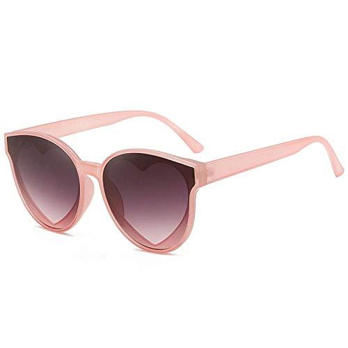 Kongyuer zonnebril, modieus, roze, personaliseerbaar, met glazen van kunststof, plat, unisex, UV400, UV-bescherming, geschikt voor paardrijden, fietsen, hardlopen, skiën, vissen, Le