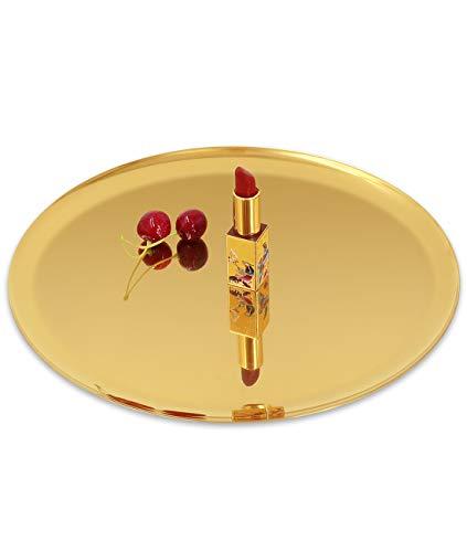 ANZOME Bandeja dorada para servir tartas, galletas, bebidas, toalla decorativa de escritorio,...