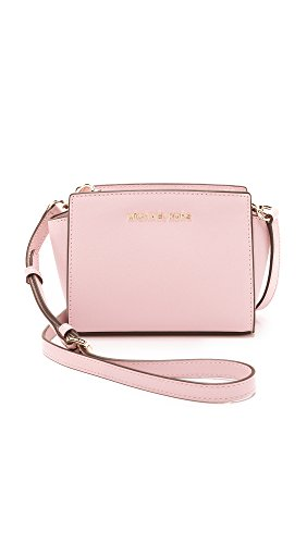 Made of leather with logo detail on front; Top Zip closure; 1 inside zip pocket Adjustable crossbody strap of 22-24 Inches drop Gold hardware Measurements: Length: 9 x Height: 6.5 x Width: 3.75 Inches Comes with original tags