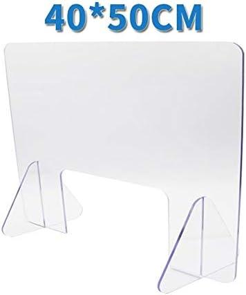 Isolated Transparent Acrylic Screen Desk partition Convenience Size : Medium Desktop Split Screen