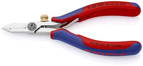 KNIPEX 11 82 130 Ciseaux à dénuder pour l'électronique avec gaines bi-matière 140 mm
