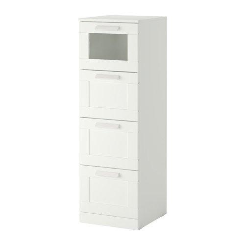 IKEA Brimnes Kommode mit 4 Schubladen, Weiß