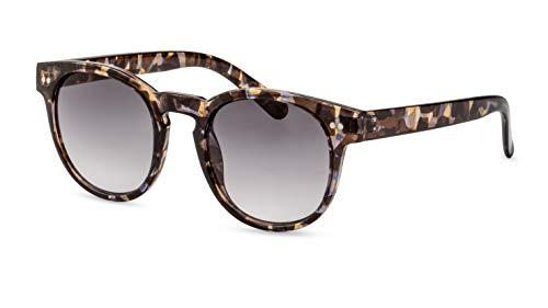 Primetta Panto Sonnenbrille/Runde Retro Sonnenbrille für Damen & Herren/In Grau-Havanna F2508850