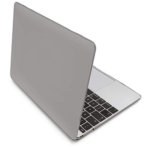 """MyGadget Hülle Crystal Clear Case - für Apple MacBook 12\"""" Retina (ab 2015) mit USB C (A1534) - Schutzhülle Plastik Cover Hartschalen Tasche in Grau"""